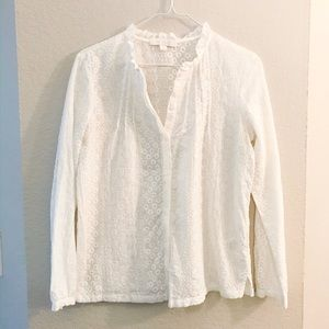 Anthropologie Eri and Ali embroidered blouse